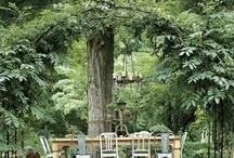 outdoor gardens/rooms