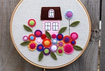 Embroidery / Drawing inspiration through Pinterest to one day return to embroidery.