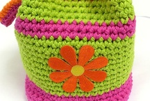 crochet BAGS, BASKETS & PURSES