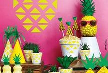 Pineapple Party / Get ready for summer with trendy pineapple partyware and decorations
