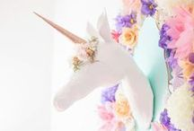 Unicorn Party Ideas / Mysterious and magical, unicorns make wonderful party animals.  We hope that you like our ideas for a unicorn themed party.