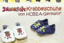 Janosch / Viele süße Sachen mit dem Kindheitsheld Janosch - Niedliche weiche Lederpuschen mit Janosch Motiven: Tigerente, Bär, Frosch und Tiger von HOBEA-Germany :)