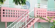 Candy-colored. / Candy-colored fashion, accessories, decor, food, etc.