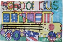Back to School / Great ideas, fun back to school activities and useful resources for art teachers and classroom teachers during back to school.