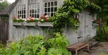 Studio Sheds. / Quaint cottages, guest houses, and rustic sheds, used as studios.