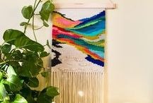 Wall-hangings and Macrame. / Decorative woven and embroidered wall-hangings, and Macrame.