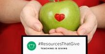 """TpT Resources That Give / This board is a collection of my resources and resources of others  that """"give"""" in one way or another. These are resources that have made a difference in my life, my students, other teachers and their students."""
