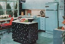 Vintage Interior Photos. / Vintage magazine and advertising photos of interior design.