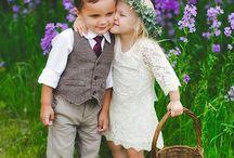 Flower Girl & Ring Bearer / wedding day, flower girl, ring bearer, wedding ceremony, flower girl dress, flower girl hair, flower girl outfit, ring bearer outfit, ring bearer suit, wedding rings, the rings