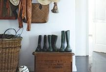 The Front Hall / the welcoming space and the home of scarfs, gloves and many shoes