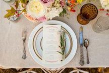 tabletop / wedding table settings and decor