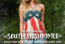 Red, White & Beautiful / Add some glam to your 4th of July with our Southern Summer Collection! Now live at shopimpressions.com