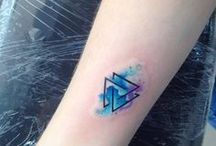 Tattoo Triangle▽ / idées pour le tatouage avec les plus mignonnes :3