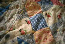 Patchwork / Simplicity and pleasure in mapping fabric, creating designs.