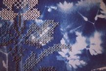 Old Lace, Flowers and Embroidery / #VintageLace and reflected light. Beautiful #embroidery and gorgeous #floral ideas