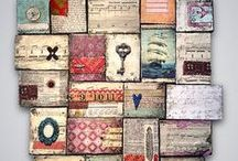Mixed Media / inspiration - mixed media artwork: pages, wall art or 3D art.