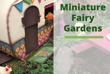 Miniature & Fairy Garden | Gardening / A collection of miniature and fairy inspired garden ideas.  These ideas can be used indoors and out.  More on my website at : https://brenhaas.com/gardening/miniature-fairy-mini-garden/