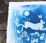 Cyanotype / Cyanotype Art, Alternative Process, Blue and White Designs, Inspiration and ideas, Printmaking.