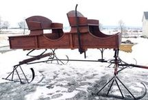 amish sleighs / The Amish are known for their remarkable craftsmanship, which includes these amazing sleighs!