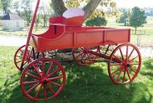 amish buckboard wagons / Amish Buckboard Wagons can be used as beautiful lawn decor for home or business.  Reminiscent from a bygone era, these old fashioned wagons are a real head-turner.