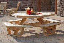 Amish Picnic Tables / Handcrafted Amish Picnic Tables are some of the most well built and durable picnic tables available.