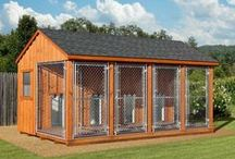 Amish Dog Kennels / Handcrafted by Amish woodworkers, these Amish Dog Kennels are sturdy and well built.
