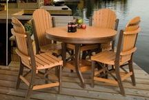 The Stonebase Patio Furniture Collection / This unique and very popular patio furniture collection is handcrafted by skilled Amish furniture makers in Pennsylvania.