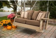 Front Porch Swingin' / Relaxing on a porch swing is such a wonderful way to enjoy a book or a cool spring day.