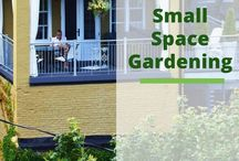 Small Space Living | Garden / A collection of great small space living and growing ideas.  Create the perfect garden living in a small space.  I share more on my website at : https://brenhaas.com/?s=small+space+gardening