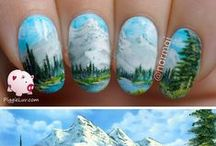 Nail art inspired by art/paintings