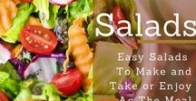 Salads / This is the board on Pinterest to follow if you are a salad geek! Details at : https://brenhaas.com/recipes/salads/