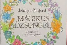 Johanna Basford - Magical Jungle / Színezéseim Johanna Basford Mágikus Dzsungel c. könyvéből. My colorings from Johanna Basford's Magical Jungle colouring book.