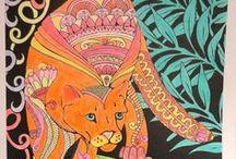 Éjjeli Erdő / Lindsey Boylan - Midnight Forest / Színezéseim az Éjjeli Erdő c. könyvből. My colorings from the Midnight Forest coloring book.