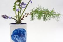 Blue Interiors / Textiles, ceramics, art and furnishing ideas for calm blue rooms.