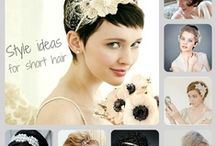 Hair ideas bridal / A collection of hair style ideas and assorted hair jewellery that I make by hand to order in combinations of crystal and pearl shipping world wide from my Etsy store https://www.etsy.com/shop/KathleenBarryJewelry?ref=si_shop