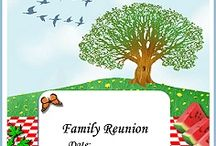 Family Events Flyers / From family reunions to graduation to wedding anniversaries and baby showers share life's celebrations the DIY crafts way. / by Family Reunion Planning