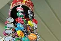 Home Decor DIY / Bottle cap and other home decor DIY ideas of the recycled or salvaged kind.