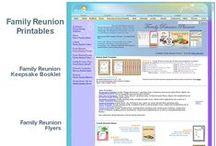 Family Reunion Printables / Printable family reunion poems, flyers, greeting cards, invitations, letters and more.