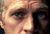 Blue Eyes / At first this was for all the blue eyed people until I saw photos of Steve McQueen's eyes! He was the whole package to me! When I look at these I also see my husband when he was younger. Like Steve, he does things that Steve would do like ride motorcycles. Other than the coloring, the physical similarities are there too. / by Karen Stevens