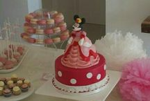 MD 2014.09.13 Mesa Dulce Minnie Mousse / Candy bar con tarta fondant Minnie
