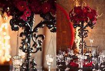 Gothic weddings / Gothic wedding | event | black | gold