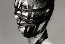 got it covered / lace, metal, jewelery, masks, flowers, anythin on yo head / by E A