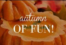 Autumn of Fun! / Autumn is such a fun time of year! Between the football games, Halloween and Thanksgiving, Autumn brings much to plan for! On this board we will pin excellent ideas for everything Fall! #Halloween #Thanksgiving #Football #Autumn #Fall / by Lauren's Hope