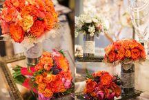 color pop / colorful weddings | flowers