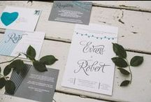 Cards and Paper / Wedding paper products, invitations, menus, and anything else printed for your big day.