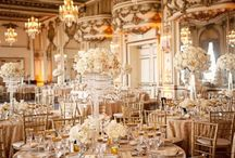 Gold Glamour Wedding / gold wedding inspiration | classic | centerpieces | glamour