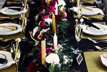 DARK | color pop / Colors | flowers | wedding inspiration