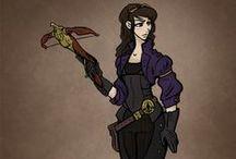 Raven Steele / A steampunk adventure work in progress.