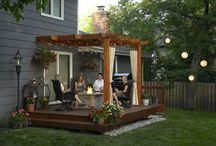Deck / Back deck at the Ono street house, grilling nook, and patio roof ideas.