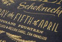 Typography Fantasy / Typography | letter press | invitations | wedding inspiration